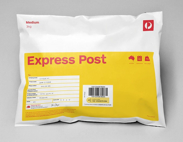 Express Post Larger Items up to 5kg via Australia Post