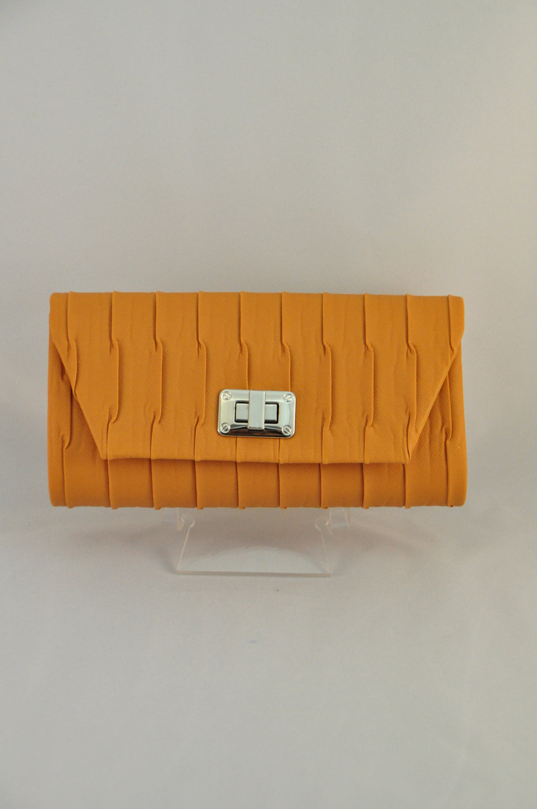 Mustard Pleated clutch