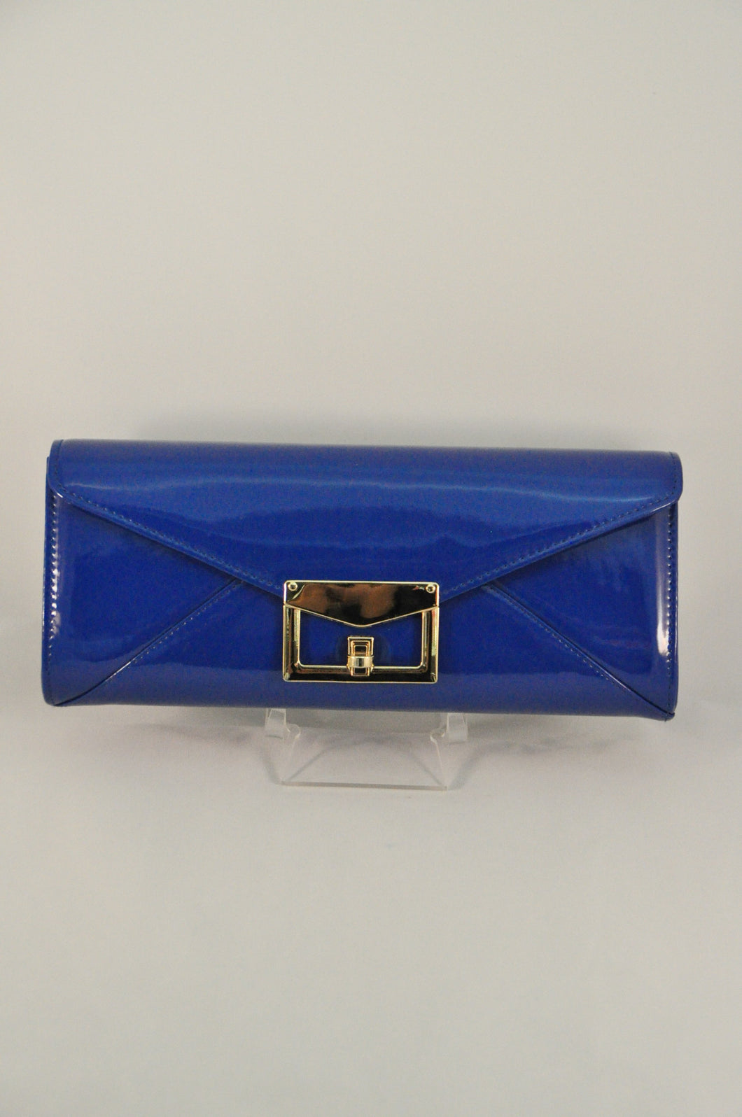 Royal Blue patent clutch
