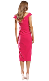 Pasduchas Dynasty Waterfall Midi in Pink