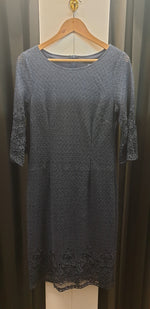 Yesadress woven lace 3/4 sleeve dress in Teal, Navy, Mocha, Black or Shiraz Y304