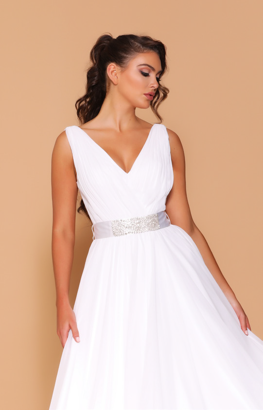 Les Demoiselle - LD1029 (Available in Stock colour White, can be colour changed  into over 20 different chiffon colours)