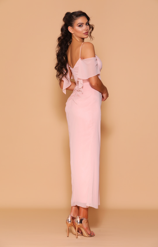 Les Demoiselle - LD1099 (Available in Stock colour Dusty Pink, can be colour changed  into over 20 different chiffon colours)