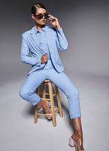 Frankie + Dash Powder Blue Button Up Top