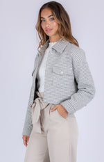 Style State Houndstooth Cropped Jacket