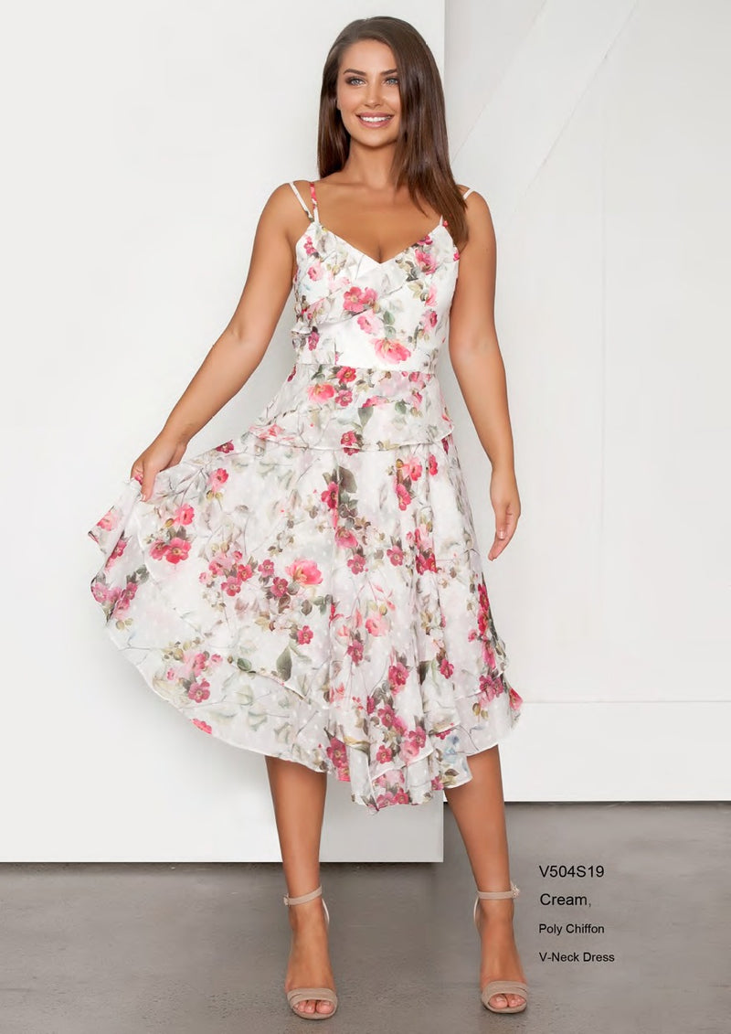 Very Very Floral Double Strap Dress V504