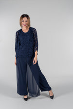 Yesadress Layered Chiffon Pants Y174 In White, Navy or Black