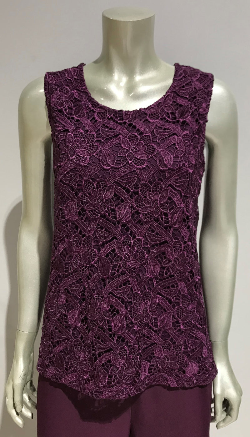 Yesadress Lace Cami - available in White, Navy, Burgundy, Plum or Black  Y235