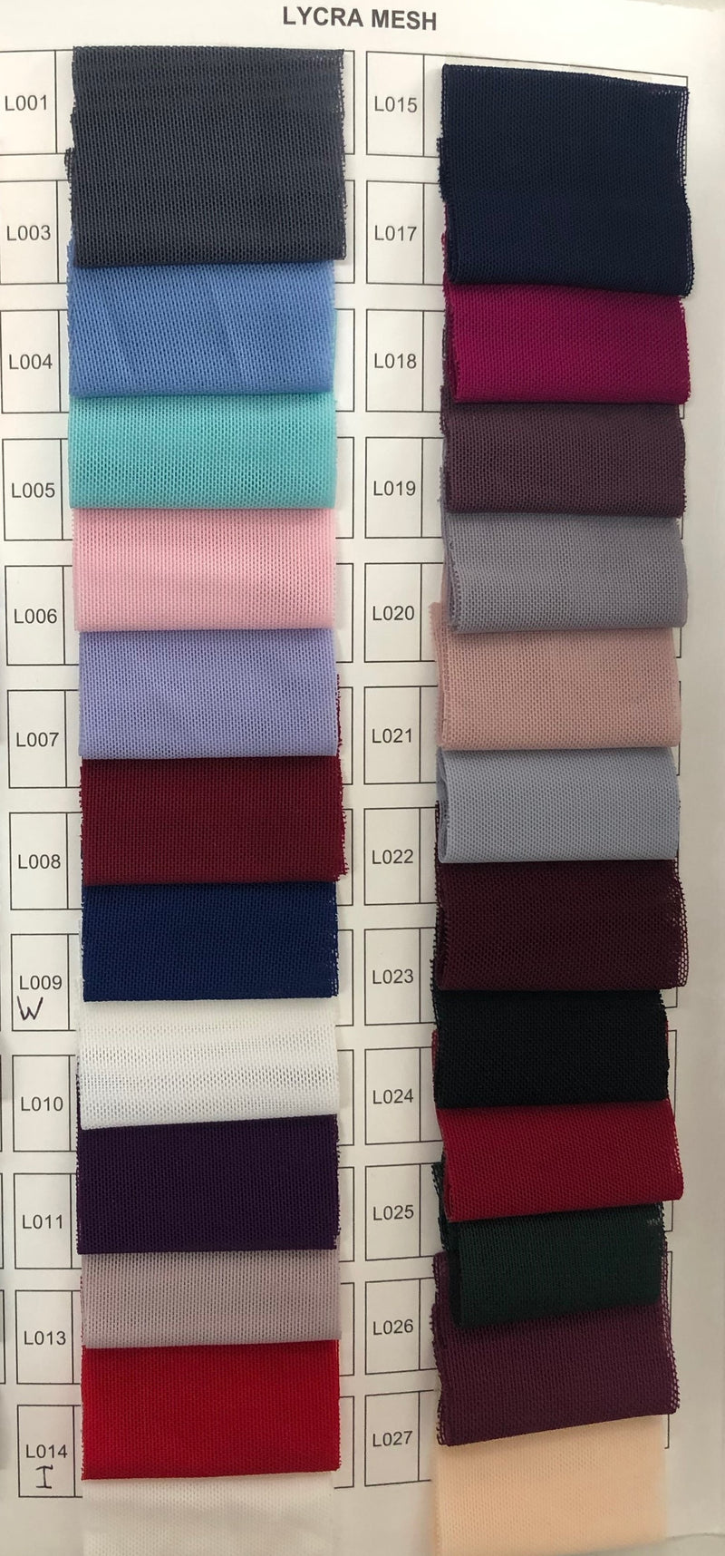 Les Demoiselle - LD1046M Lycra Mesh Fabric (Available in Stock colours Frost & Berry, can be colour changed  into 24 other colours)