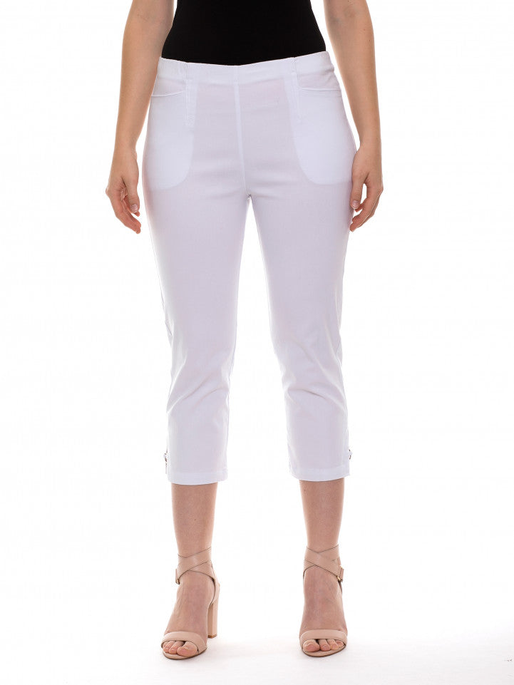 Equus slim fit 7/8 white pants