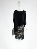 Barclay Street Black lace dress with sheer cover-up BACB320110