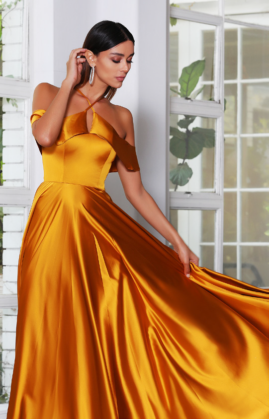 Jadore - JX4084 (Available in Mustard, Royal and Rust)