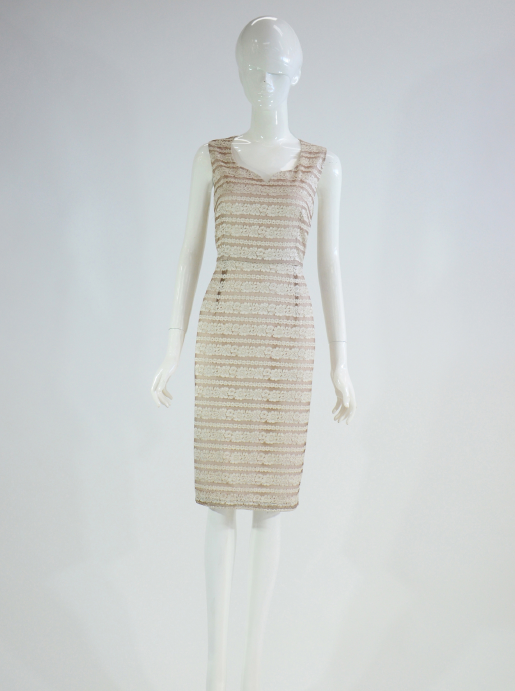 Barclay Street Latte lace dress with cropped jacket BALS420113
