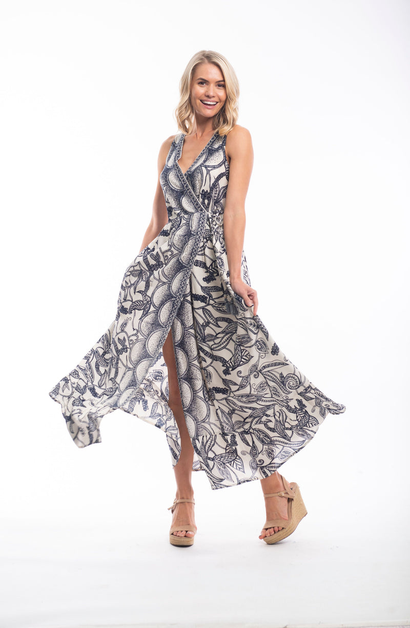 Orientique Valencia Wrap Maxi Dress