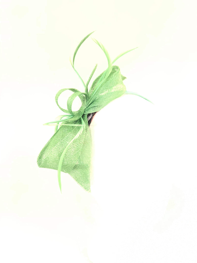 Distinctive Hats Lime Green fascinator 16400