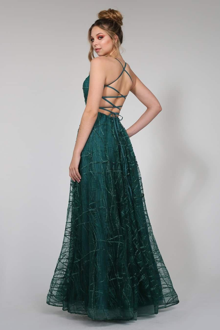 Tinaholy - TW002 Emerald green gown