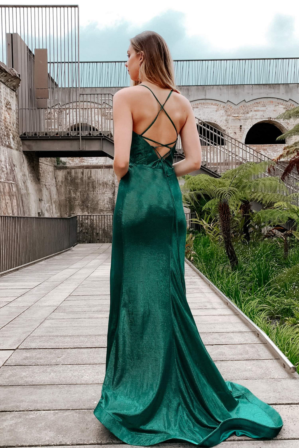 Tinaholy - TA821 Emerald green gown