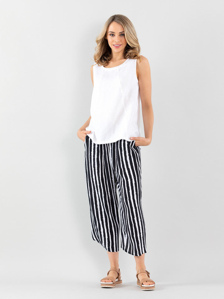 Marco Polo Sea Stripe Drape Pant