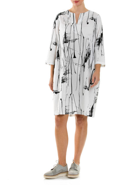 Marco Polo 3/4 Slv Abstract Dress