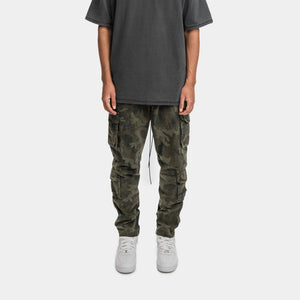 CARGO PANTS - WASHED CAMO