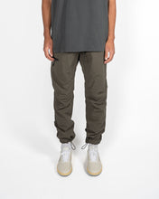 Load image into Gallery viewer, CORDED NYLON PANTS - CHARCOAL MOSS