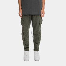 Load image into Gallery viewer, CARGO PANTS - WASHED OLIVE