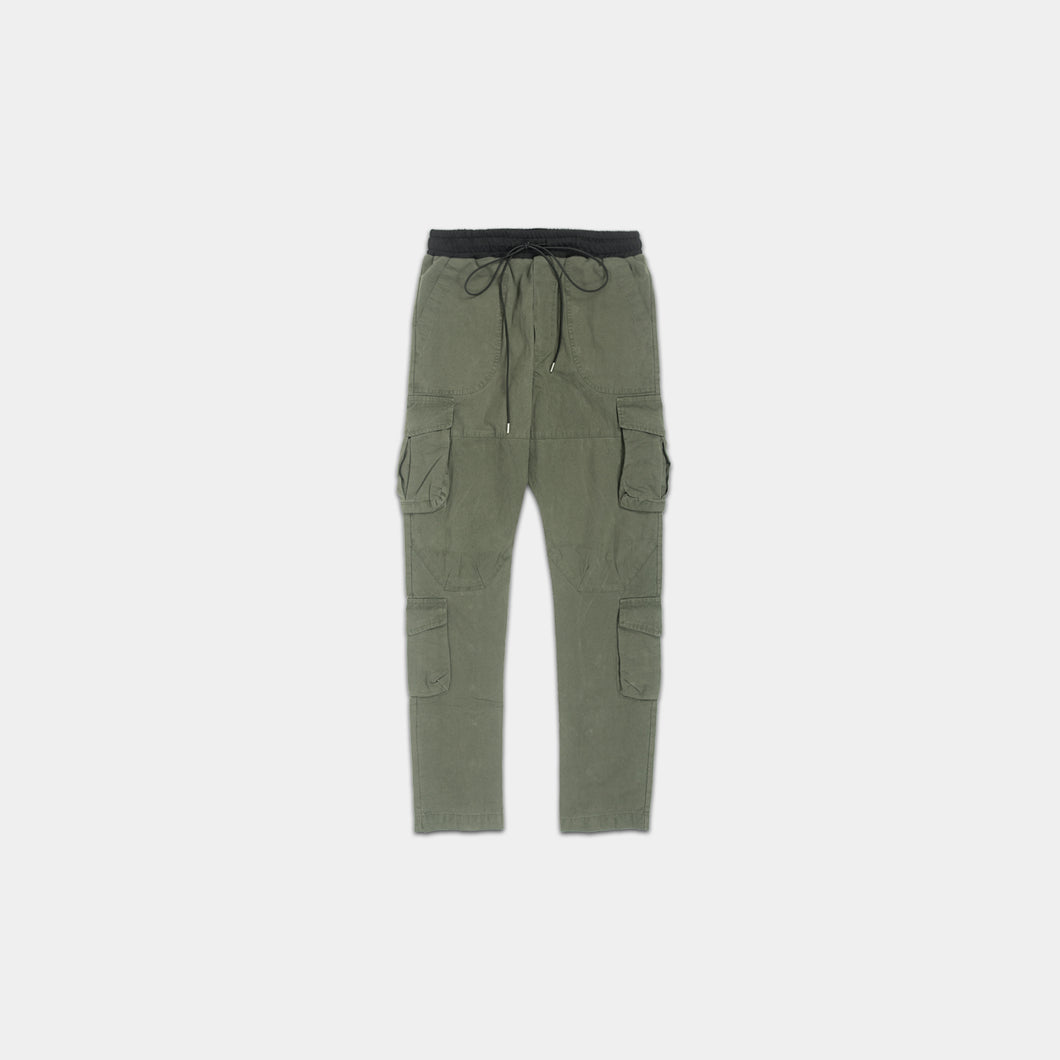 CARGO PANTS - WASHED OLIVE