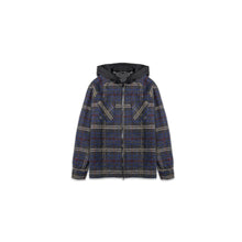 Load image into Gallery viewer, FLANNEL HOODED JACKET - BLUE