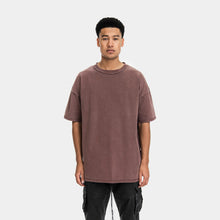 Load image into Gallery viewer, WASHED TEE - CARMINE
