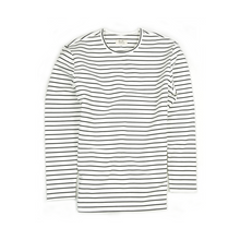 PREMIUM HEAVYWEIGHT STRIPE L/S - WHITE