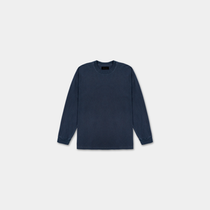 LONG SLEEVE WASHED SHIRT - NAVY