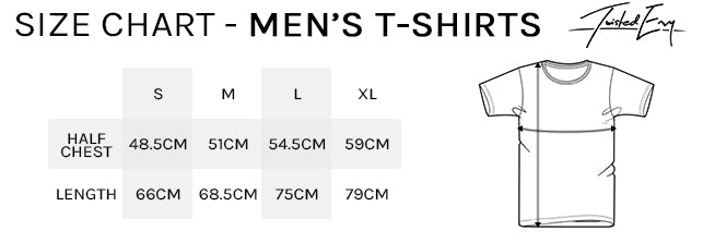 Men's TS Size Chart