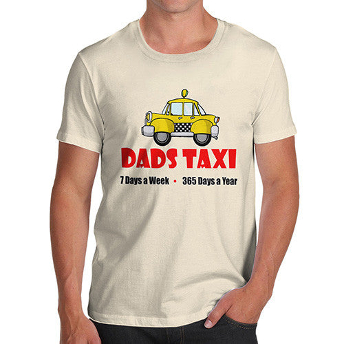 Mens Dads Taxi Funny T-Shirt