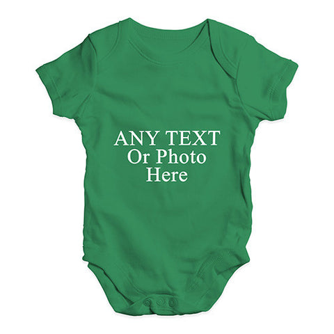 Personalised Design Your Own Wording Photo Baby Unisex Baby Grow Bodysuit