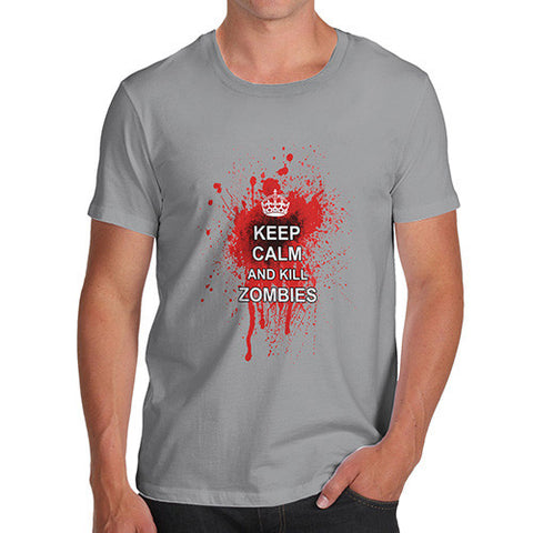 Men's Keep Calm And Kill Zombies T-Shirt