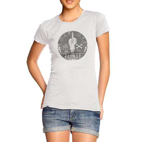 Womens Fock Off Please Graphic T-Shirt