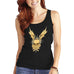Womens Gothic Winged Skull Graphic Tank Top