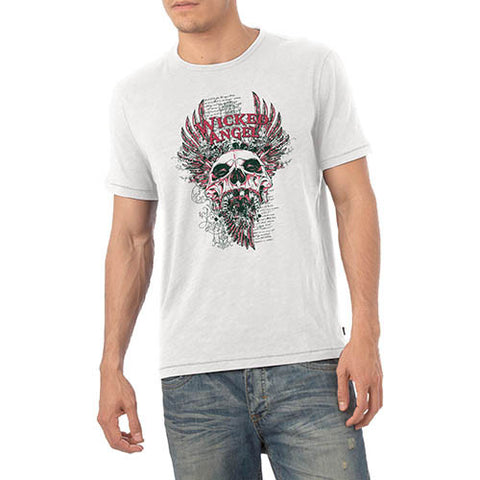 Mens Wicked Angel Skull Graphic T-Shirt