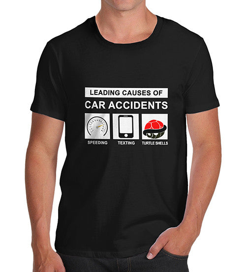 Men's Leading Causes Of Car Accidents Funny T-Shirt