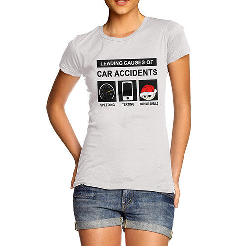 Women's Leading Causes Of Car Accidents Funny T-Shirt