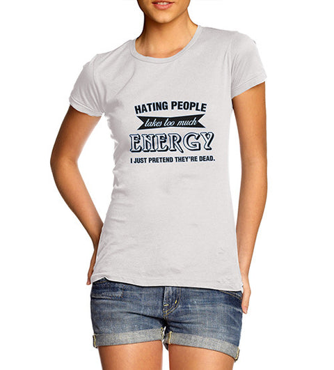 Women's Hating People Funny T-Shirt