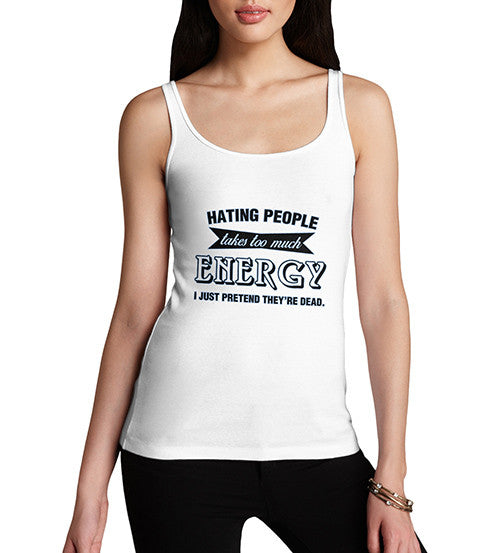 Women's Hating People Funny Tank Top
