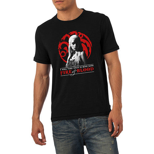 Mens Khaleesi Fire And Blood T-Shirt