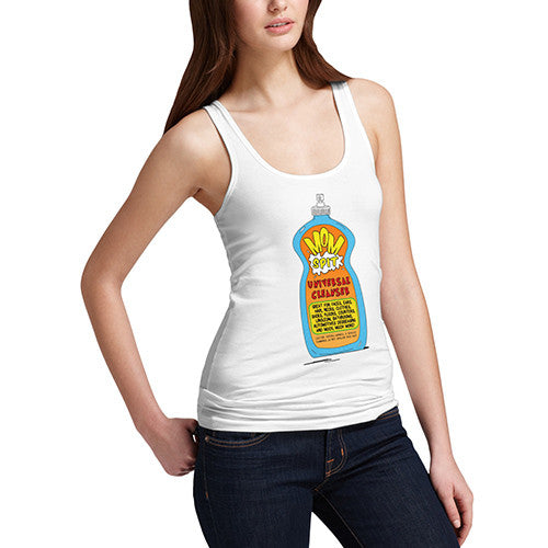 Women's Mom's Spit Universal Cleaner Funny Tank Top