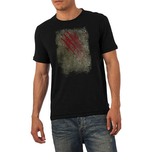 Men's Bloody Claw Slash Printed Graphic T-Shirt