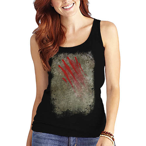 Women's Bloody Claw Slash Printed Graphic Tank Top