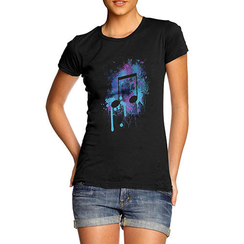 Women's Musical Note Printed Graphic T-Shirt