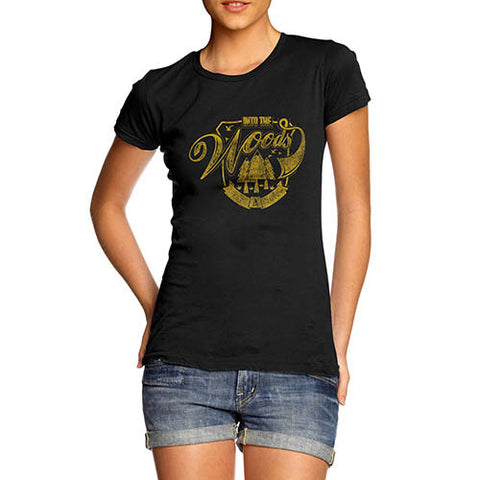 Womens Distressed Print In The Woods T-Shirt
