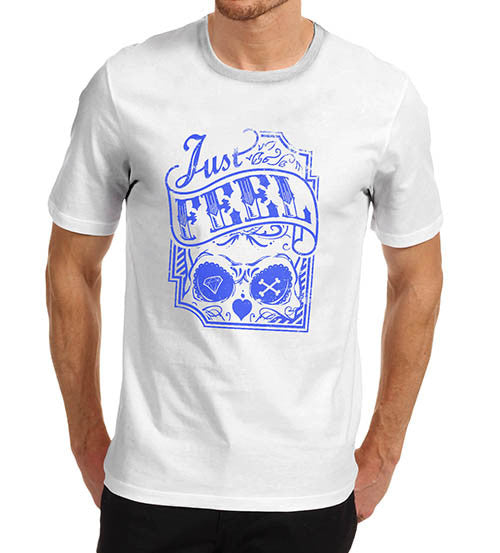 Mens Skull Just Feel Skull T-Shirt