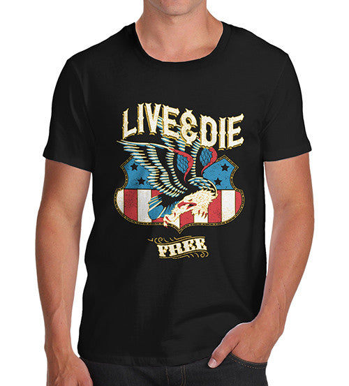 Mens American Eagle Live And Die Free T-Shirt